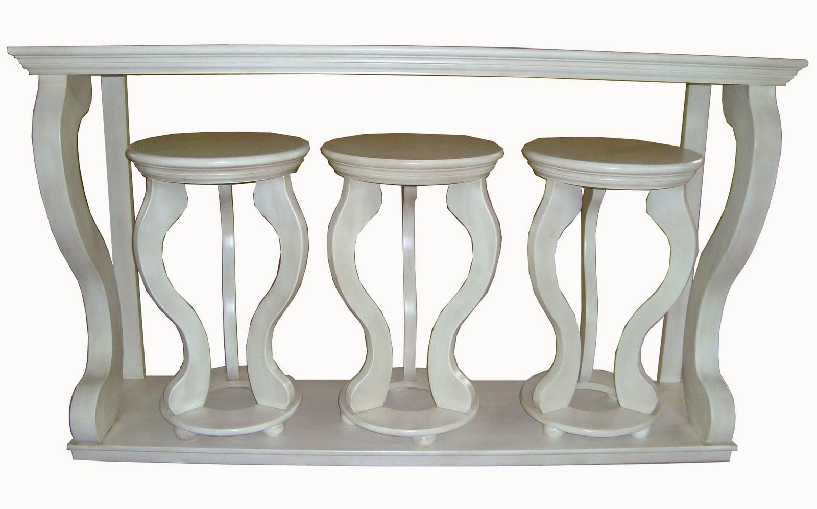 Fabulous I want this Tainoki console table and stools set so bad  UT98