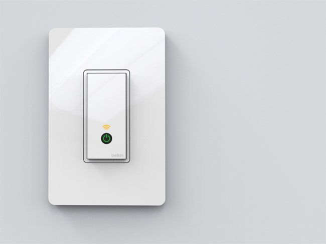 The Belkin WeMo Light Switch allows you to control your