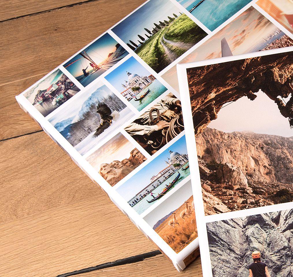Fotocollage leinwand lass 39 deine collage auf echte - Fotocollage auf leinwand drucken ...