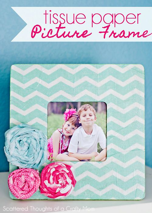 Mother\'s Day Gift Ideas | Paper picture frames, Tissue paper and Crafts