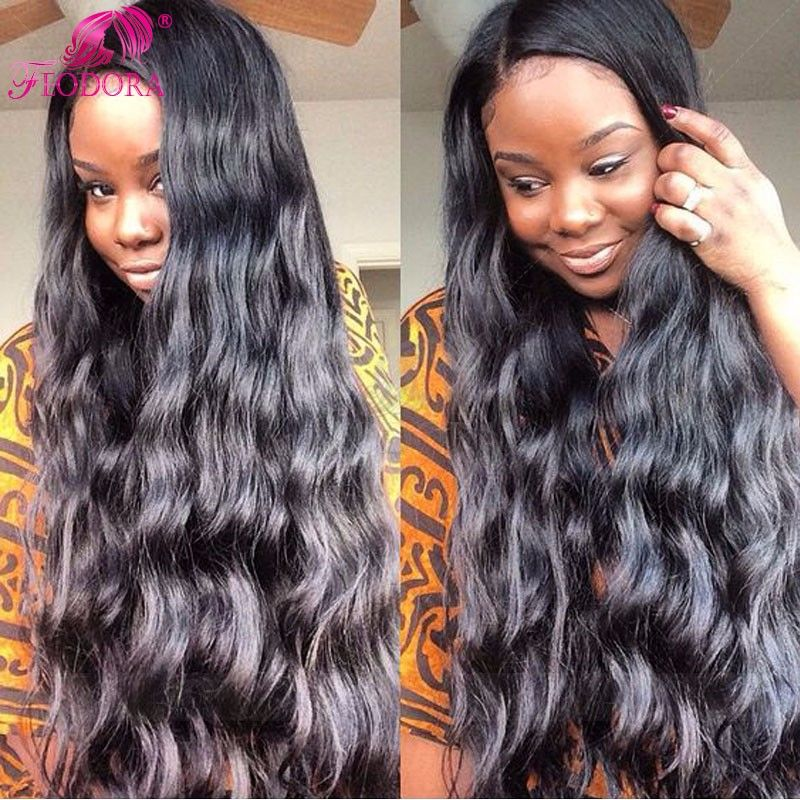 100% Full Lace Wigs Silk Top Natural Hair Line Human Hair Lace Front Wigs  For Black Women Natural Baby Hair Hairline Hot Sale 95638e25b8