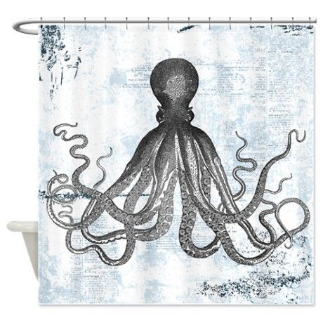 Grunge Octopus Shower Curtain By Inspirationz Store Octopus