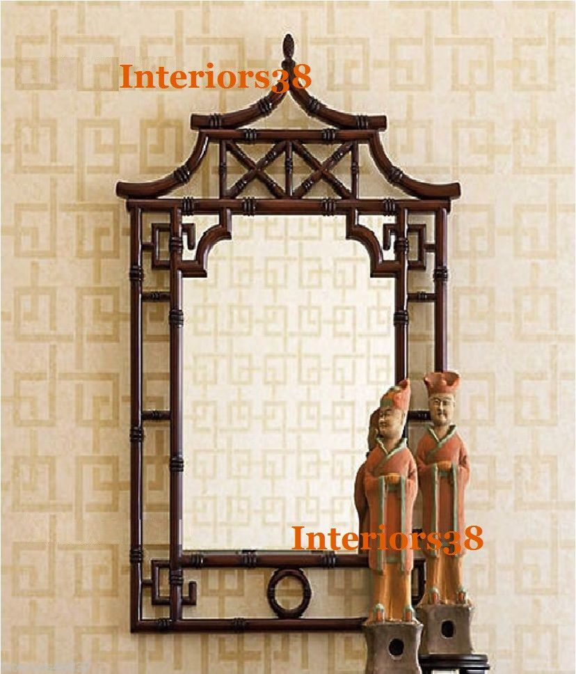 Horchow large 42 asian chippendale pagoda bamboo vanity wall horchow large 42 asian chippendale pagoda bamboo vanity wall mirror greek key 400 amipublicfo Choice Image