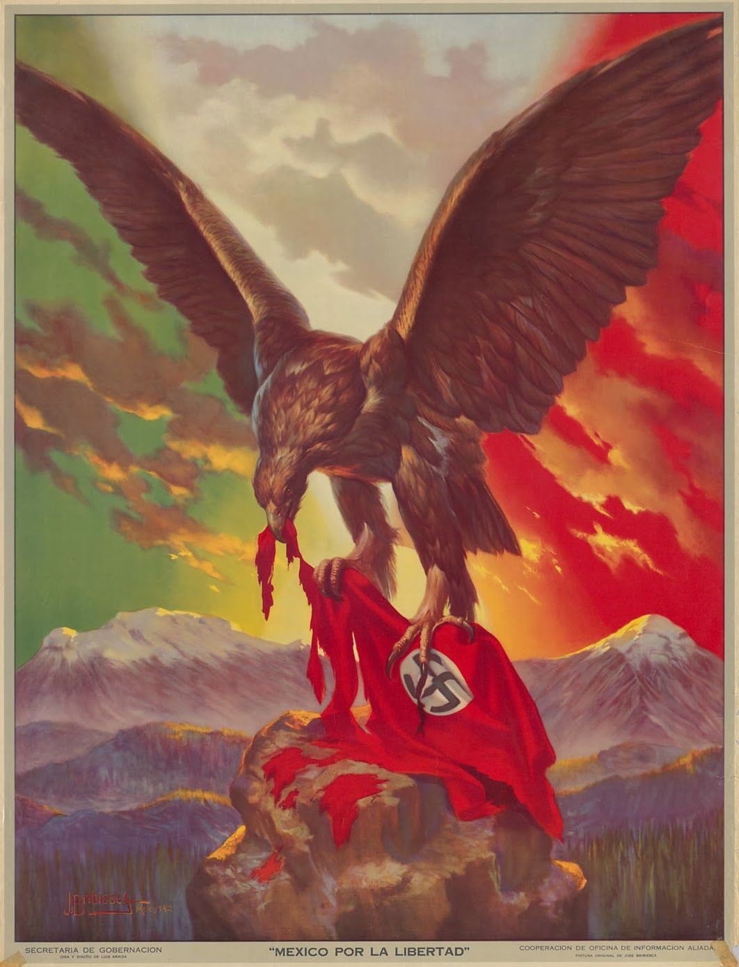 Anti american mexican artwork