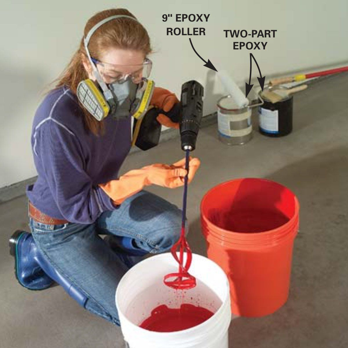 How to apply epoxy flooring paint to your garage garage