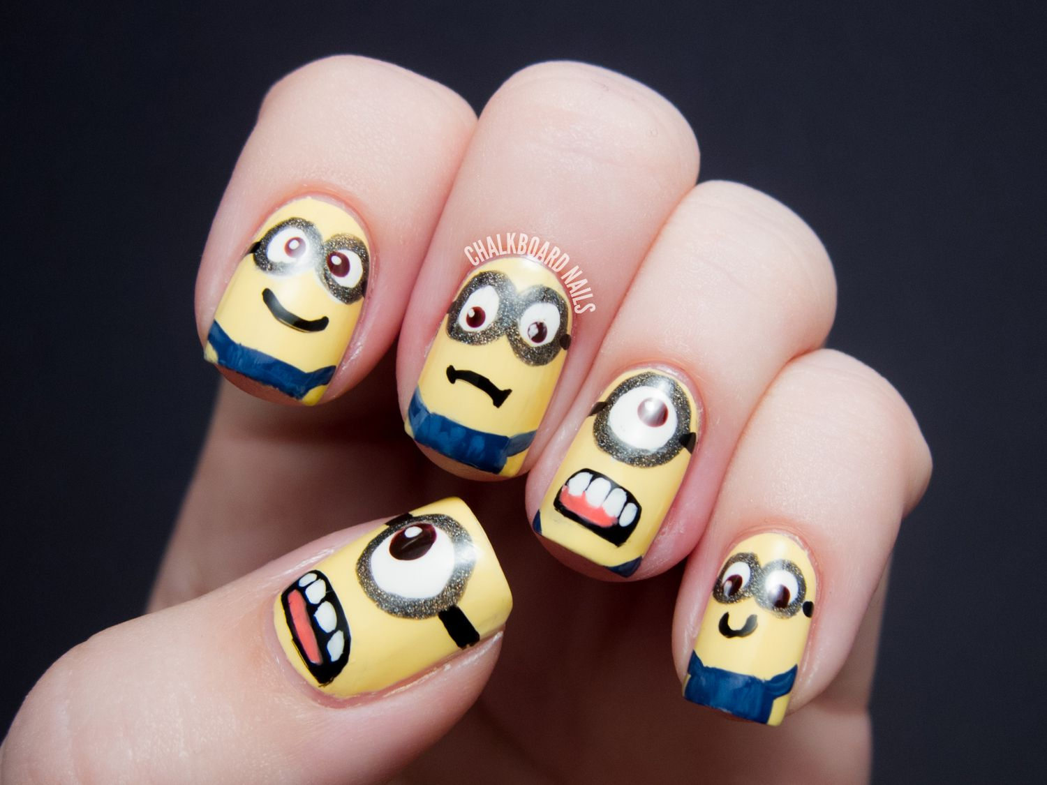 MINIONS!! - Despicable Me Nail Art | Minion nails, Chalkboard nails ...