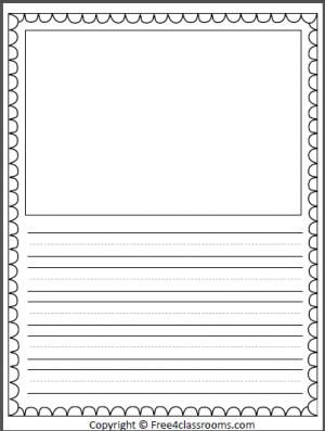 Free Half Page Lined Writing Template Writing Templates