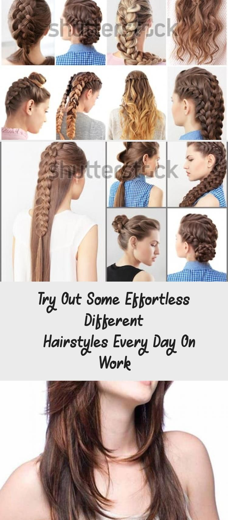 Try Out Some Effortless Different Hairstyles Every Day On Work 7 Easy Everyday Hairstyles For Each D In 2020 Hair Styles Easy Everyday Hairstyles Everyday Hairstyles