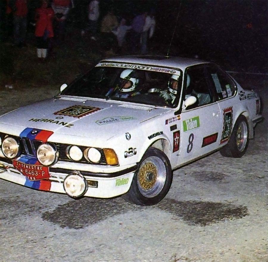 Jose Maria Ponce Valeo 1986 BMW 635.