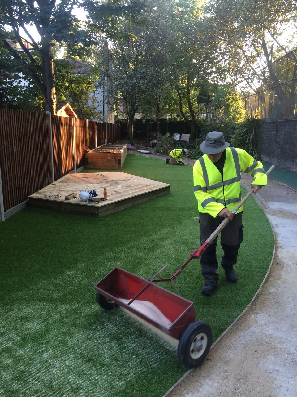 how to install turf grass