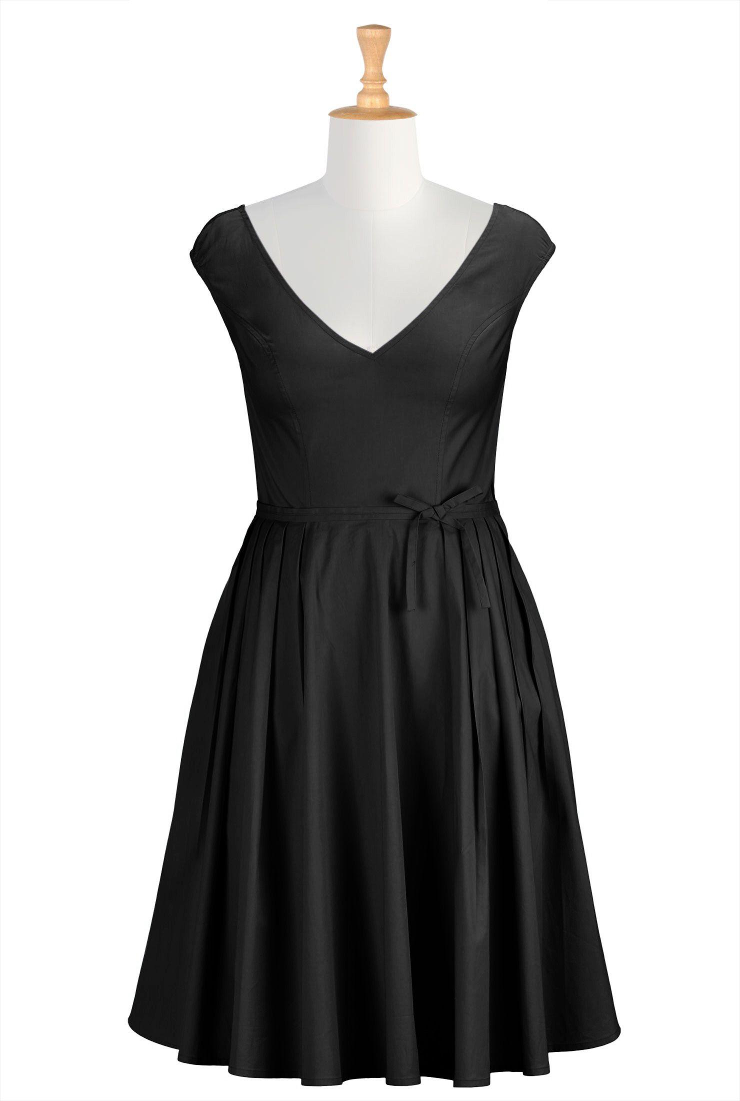 Below knee length dreses black dresses bridesmaids dresses cap