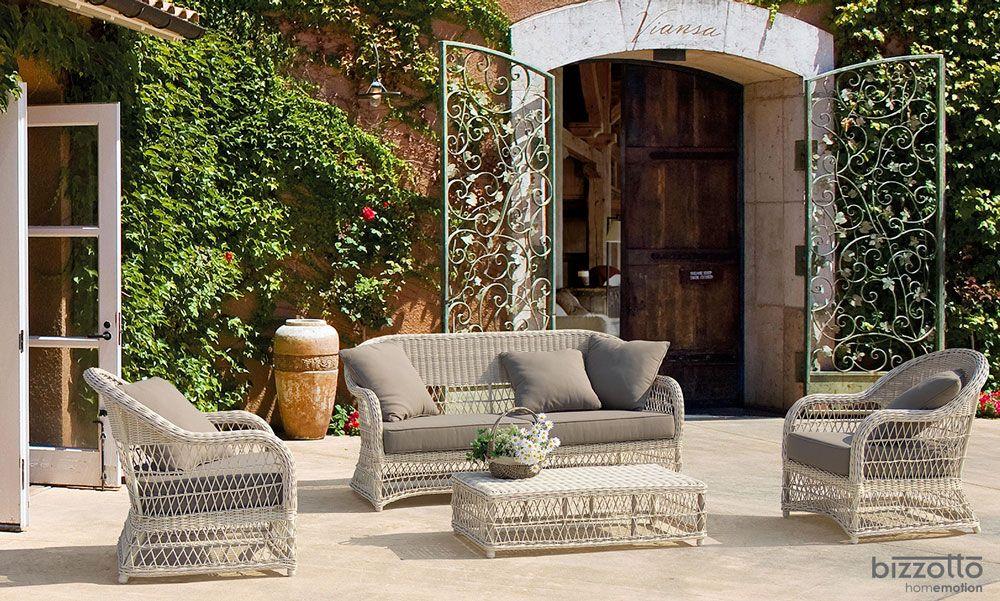 Tavolo polyrattan ~ Salotto ferdy di divano sedie pouf e tavolo grigio azz