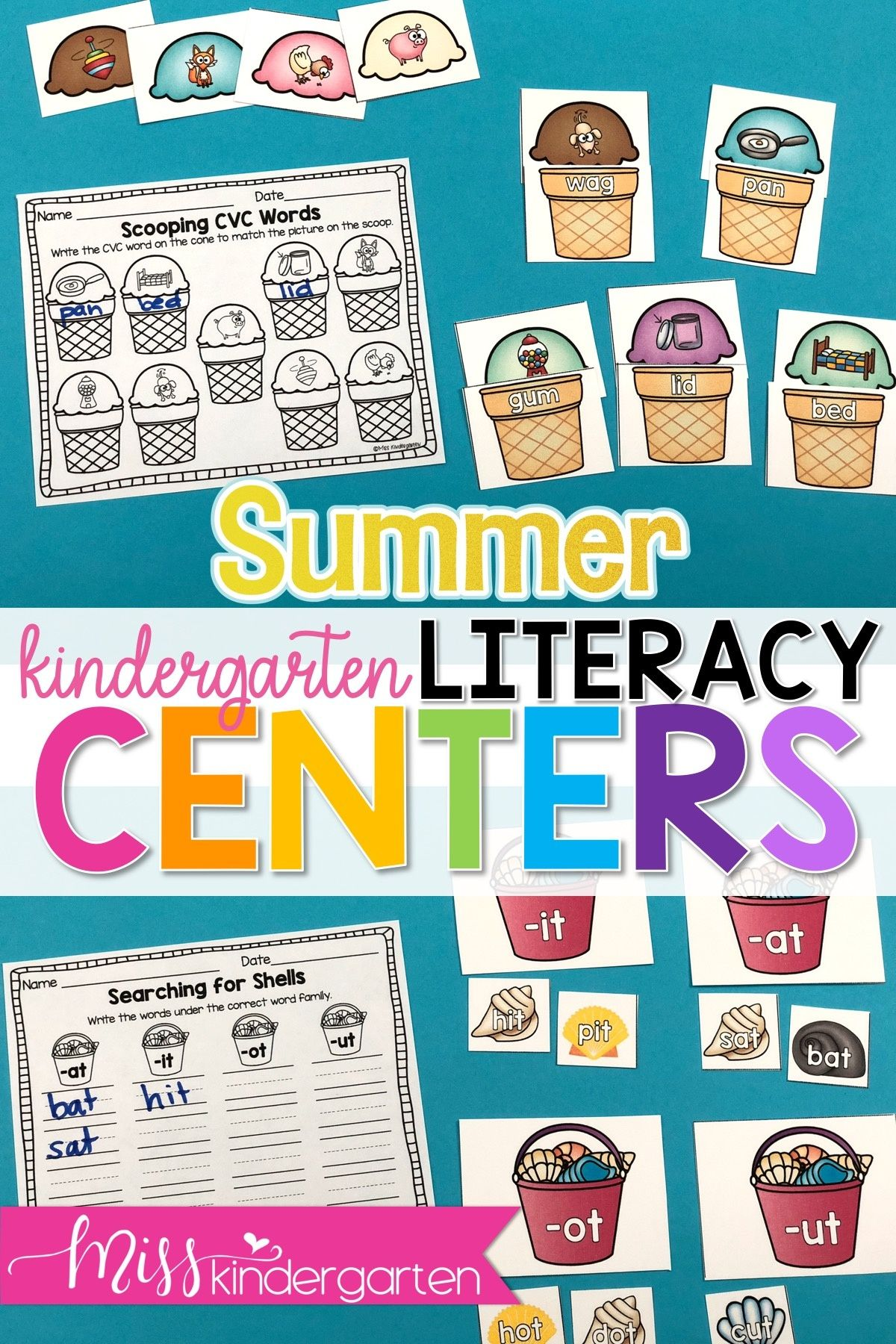 Bring Fun And Play Back To Your Classroom These Summer Themed Math And Literacy Centers Are