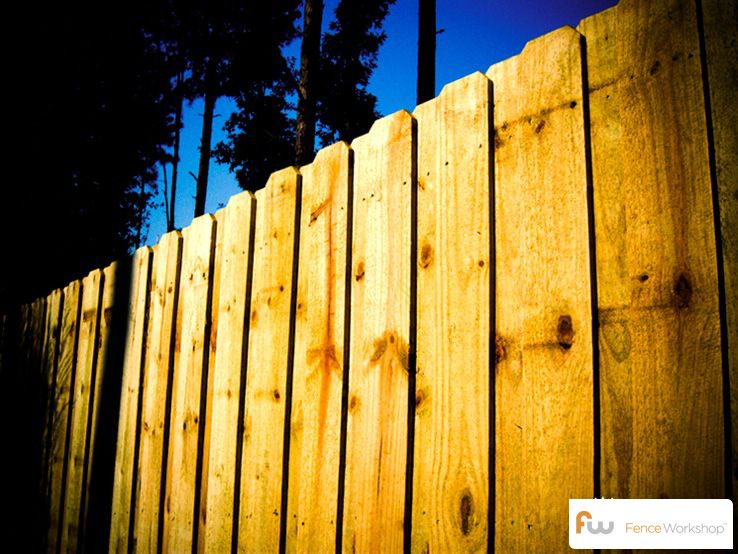 The Fortson Board On Board Wood Privacy Fence Pictures Per Foot Pricing Wood Privacy Fence Privacy Fences Fence
