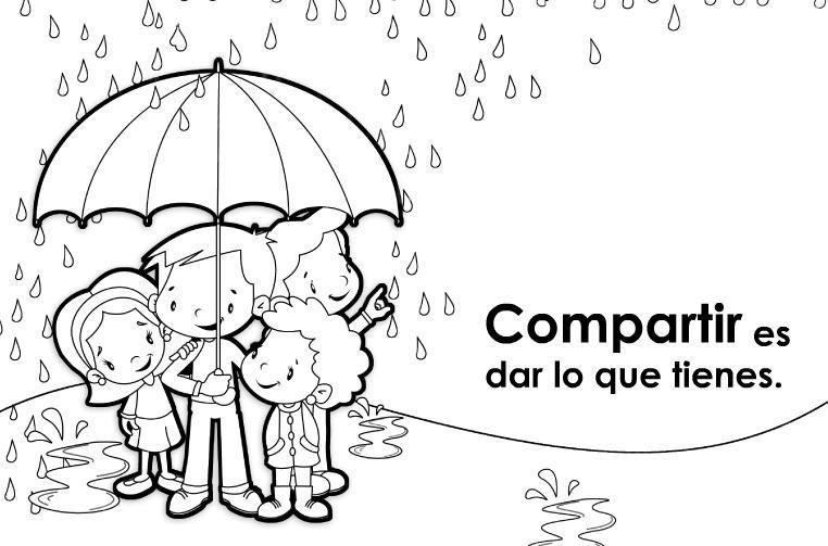 Láminas De Educar En Valores Para Niños Dibujos De Valores