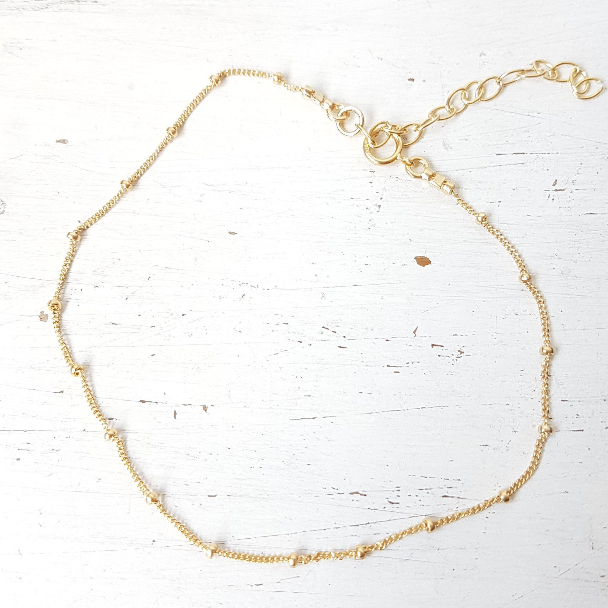 Photo of Gold Anklet,gold filled anklet,dainty anklet,minimalist layered anklet,satellite chain,tiny anklet,body jewelry,Summer anklet -21012