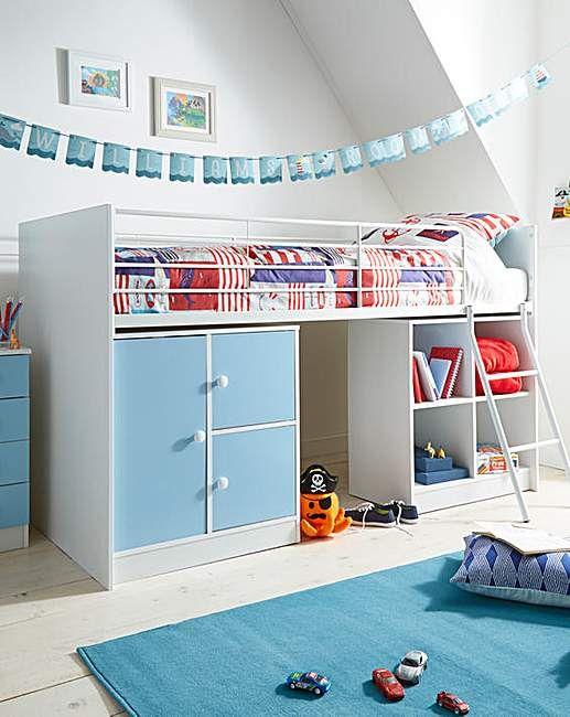 Aurora Mid Sleeper With Mattress J D Williams Kids Bed Furniture Kids Headboard Headboards For Beds