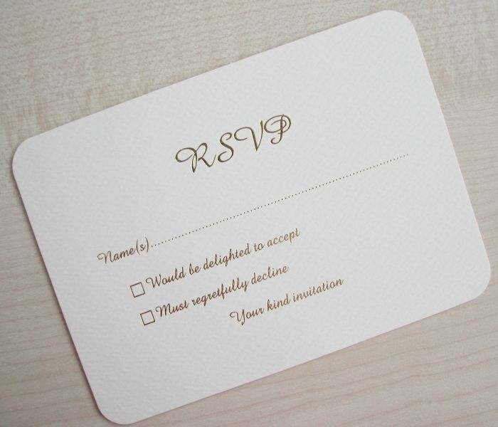 What To Put On Response Cards For Wedding