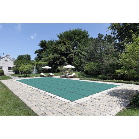 Waterwarden Inground Pool Safety Cover Fits 16 X 36 Solid Green Center Drain Panel Walmart Com Pool Cover In Ground Pools Pool Safety