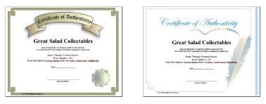 Free certificate authenticity template art business for Certificates of authenticity templates