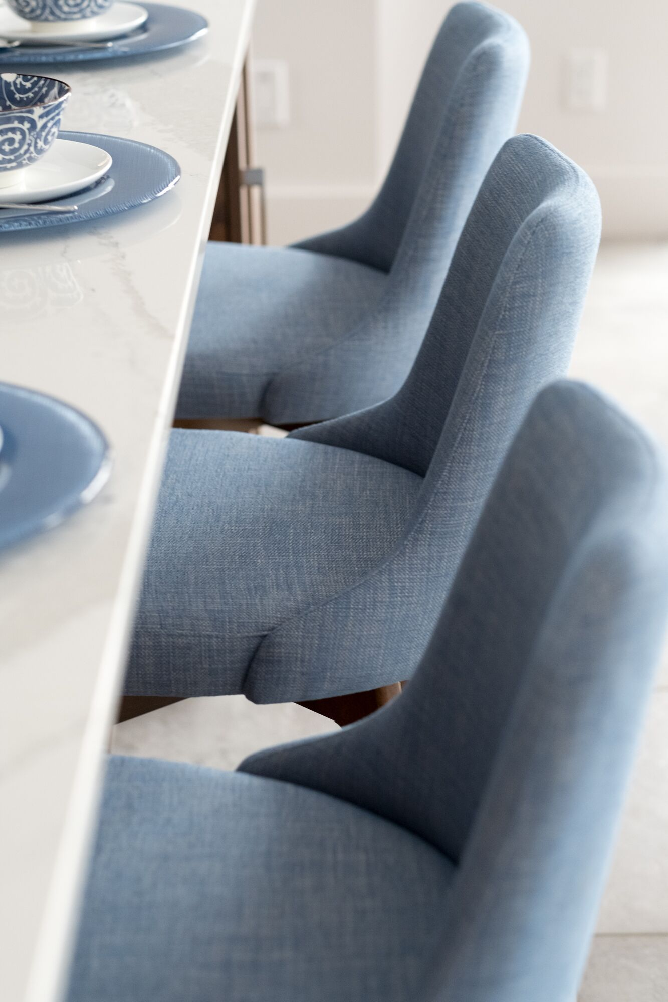 Match Your Dinerware With Your Stools To Create A Statement With