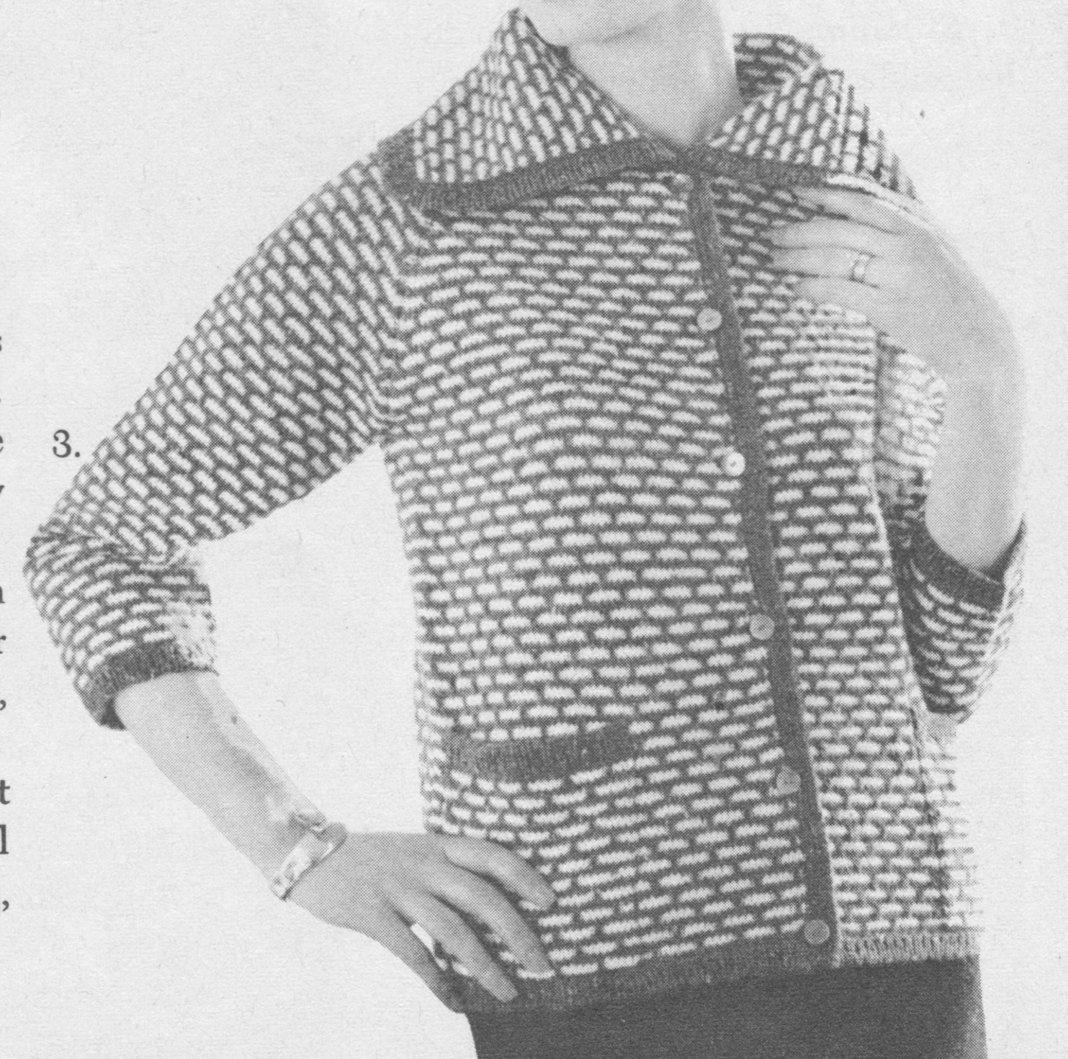141 PDF Block Jacket Knitting Pattern, Women\'s Chanel Style Sweater ...