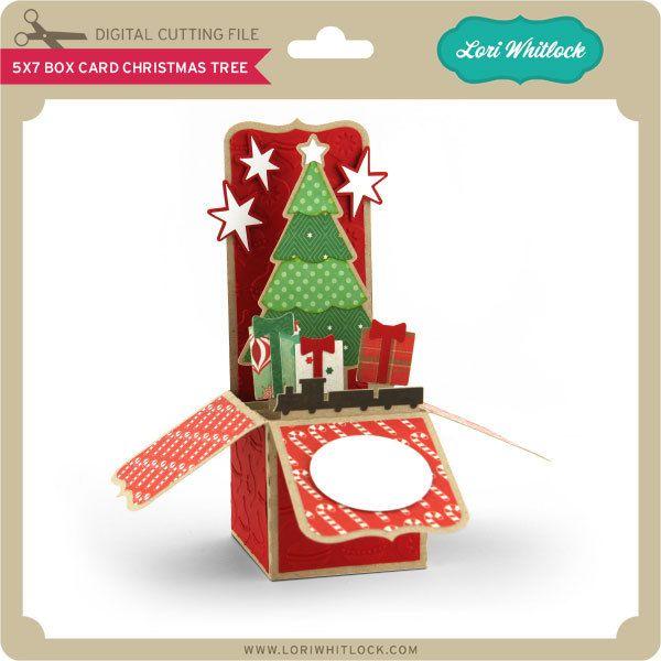 5x7 Box Card Christmas Tree Pop Up Christmas Cards Christmas Cards Christmas Tree Box