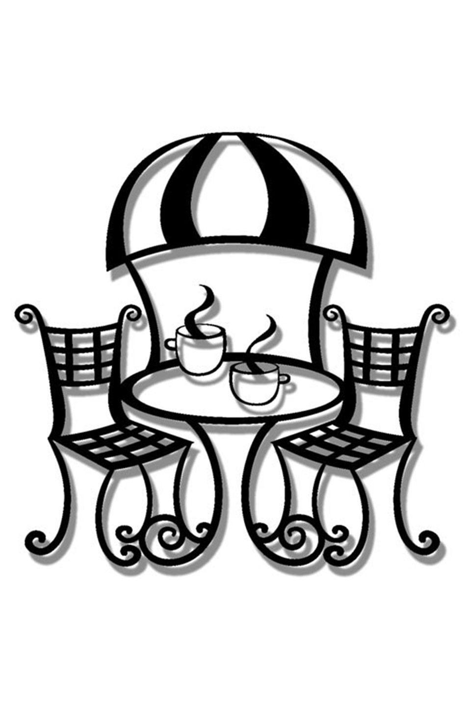 Cafe Bisto, Metal Wall Art   Kitchen & Dining Room Art   Pinterest ...
