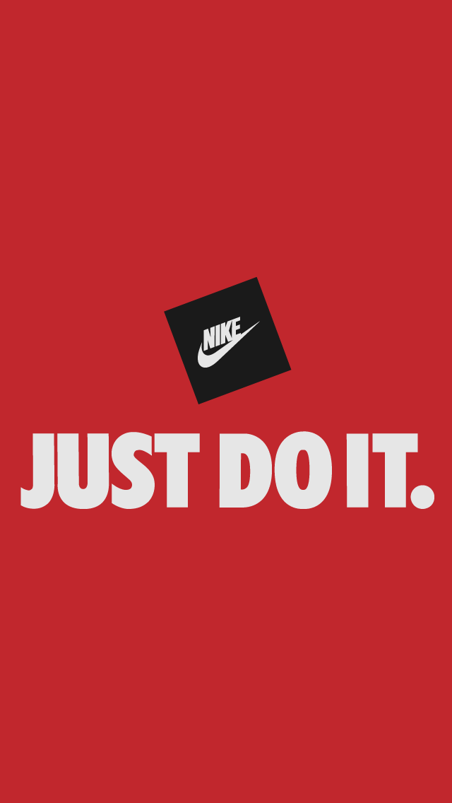 Tap And Get The Free App Art Creative Nike Quotes Just Do It Motivation Logo Red Black Hd Iphone W Nike Wallpaper Nike Logo Wallpapers Nike Wallpaper Iphone