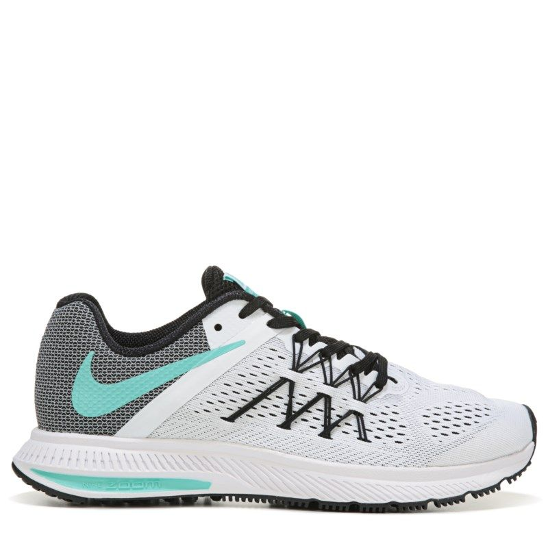 9f6efc7a14c Nike Women s Zoom Winflo 3 Running Shoes (White Turquoise) - 8.0 M