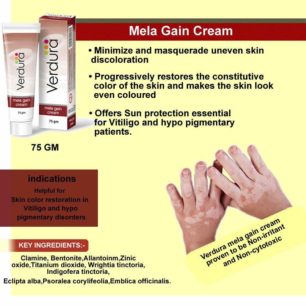 Mela Gain Cream For Vitiligo Skin White Spots Patches Re Pigmentation 75gm Uk Vitiligo Skin White Skin Spots Vitiligo