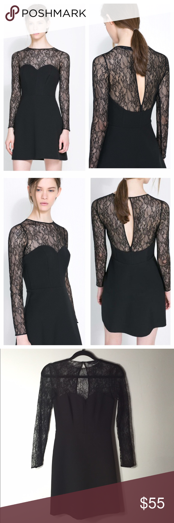 Zara combined lace dress zara dresses lbd and lace dress