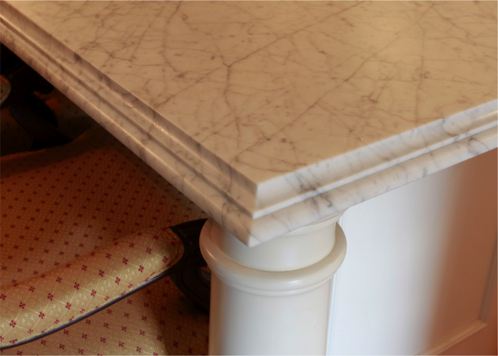 Table With A Cove Dupont Edge Granite Edges Countertops Colors Kitchen