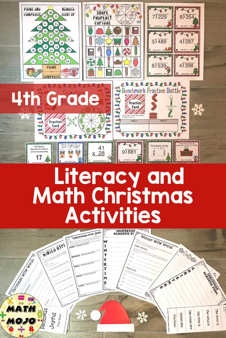 medium resolution of 4th grade christmas 4th grade math and ela christmas activities bundle –  Artofit