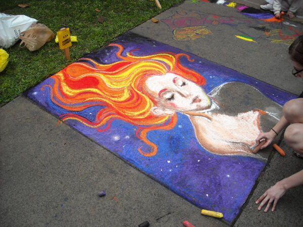 SCAD sidewalk art festival   SCAD   Pinterest   Art festival ...