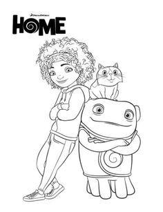 Tip Coloring Pages Dreamworks Home Fine Motor Skills Pinterest