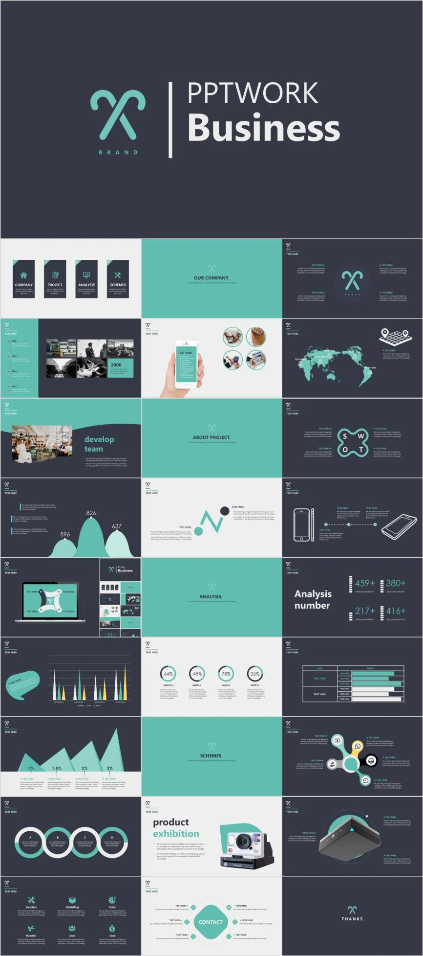 Best Clean Beautiful Business Powerpoint Template On Behance