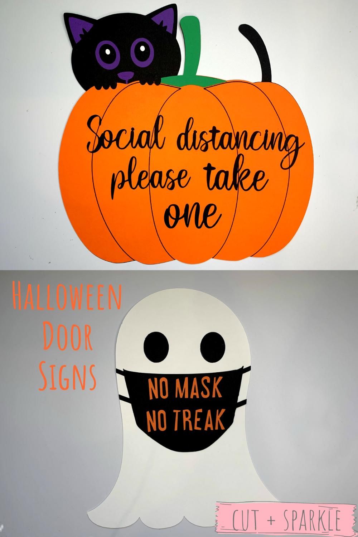 Halloween Sign Halloween Social Distance Sign Candy Sign