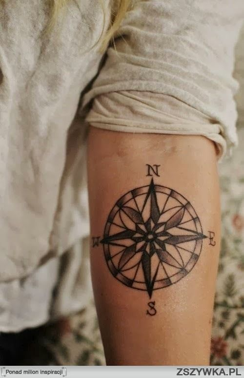 Róża Wiatrów Tattos Compass Tattoo Forearm Tattoo Men