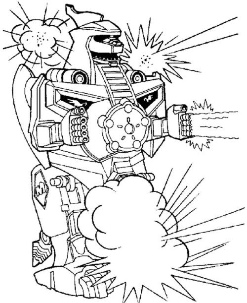 Power Rangers Turbo Coloring Pages