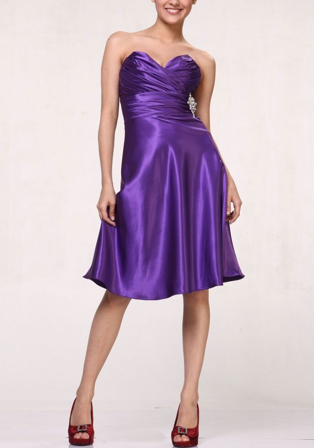 CD7703 Strapless Purple Bridesmaid Dress... this is where I\'ve ...