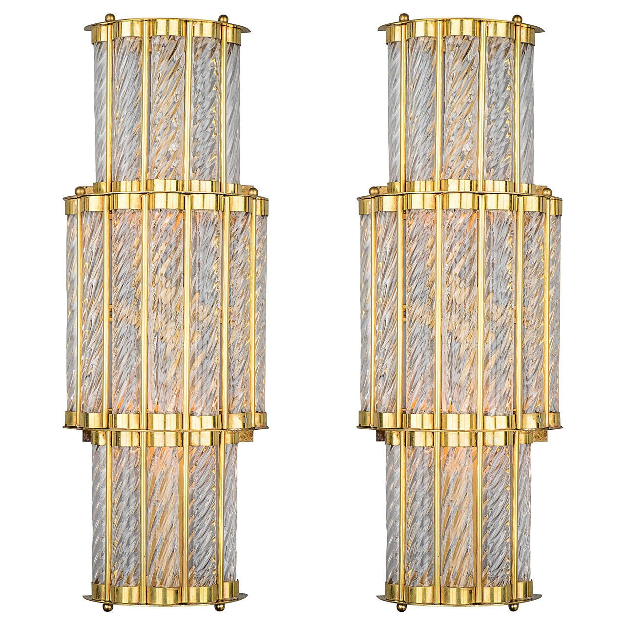 Art deco style murano wall sconces art deco style wall sconces art deco style murano wall sconces mozeypictures Images