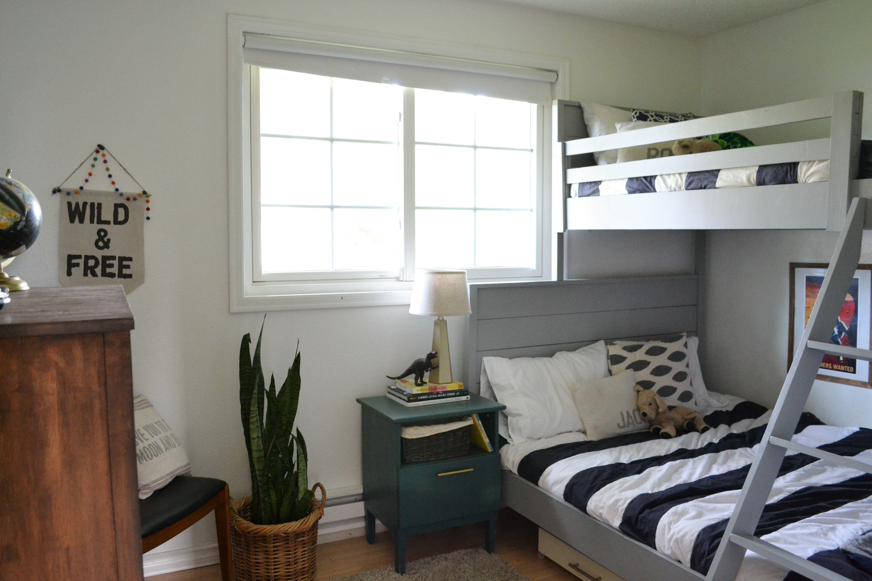 Boy S Room Reveal Bunk Beds Bunks Bunk Beds Built In