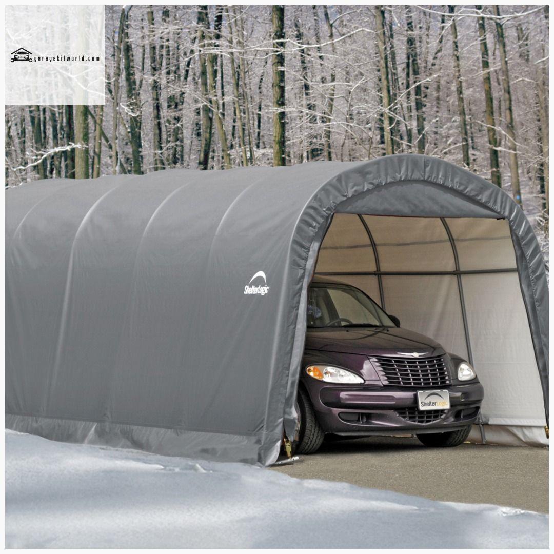 ShelterLogic 12 x 20 RoundTop Portable One Car Garageina