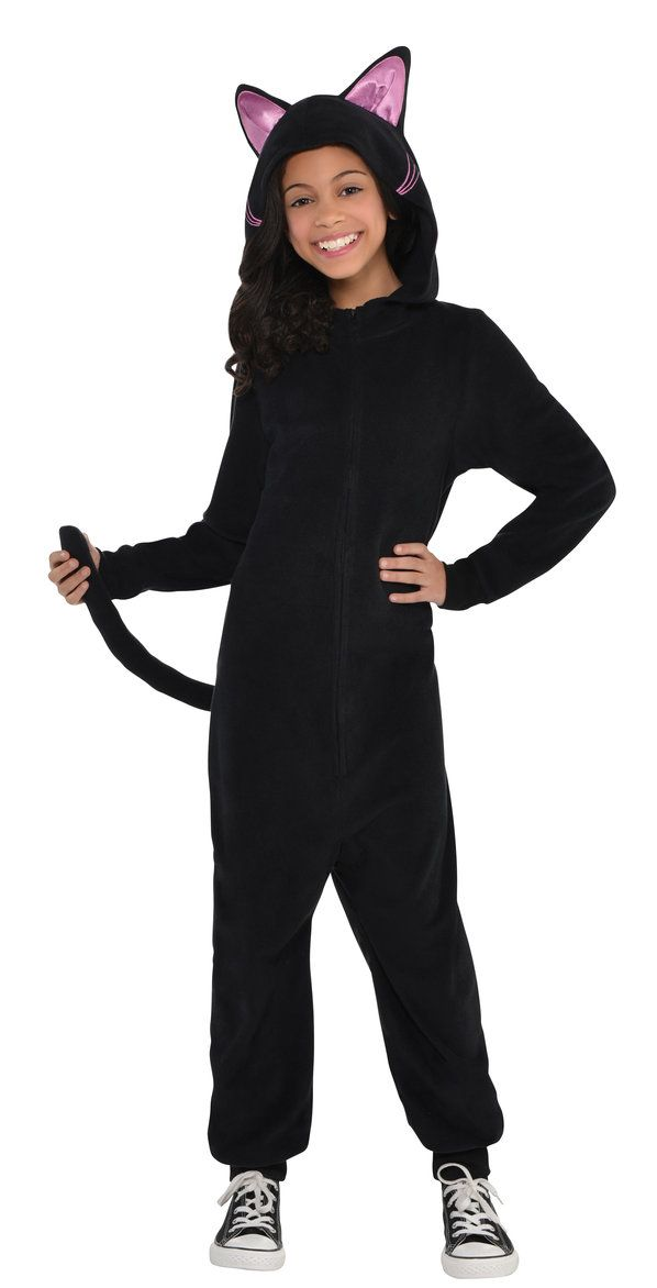 Kids Black Cat Onesie Costume | Halloween 2017 | Onesie ...