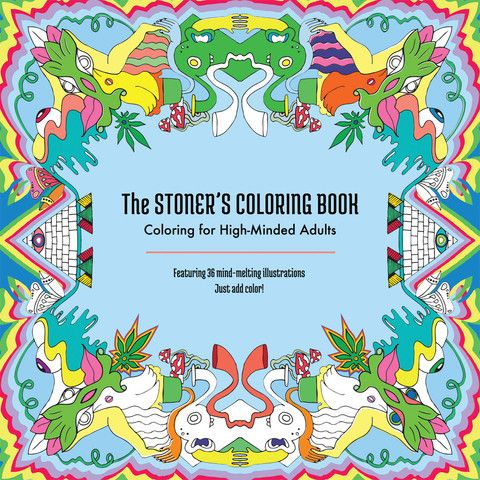 stoners coloring book stoner gift weed for adults adult grownups pages
