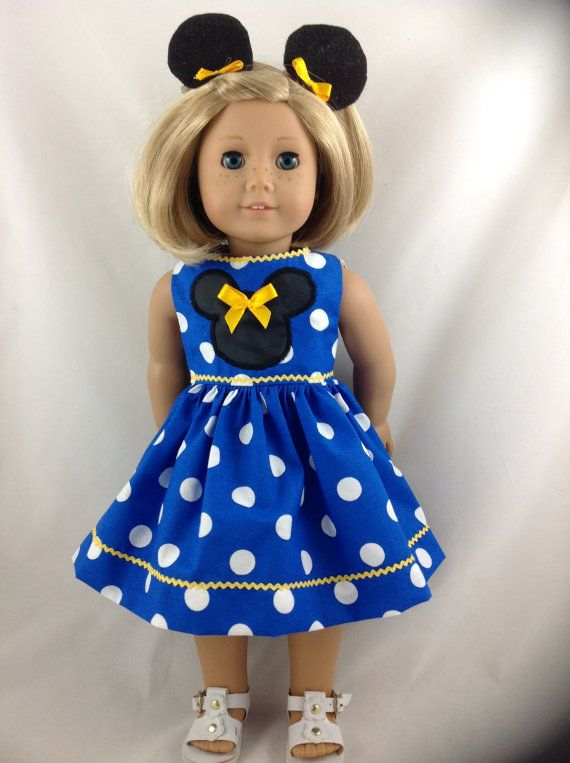 American Girl Doll Dress Mickey Mouse Minnie Mouse Polka Dot ...