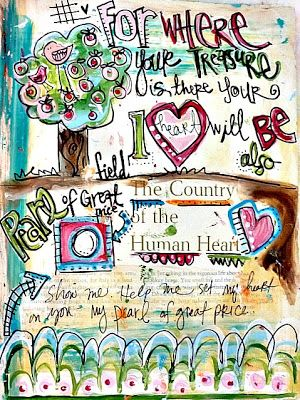 Art by Erin Leigh: 31 Days of Scripture Art Journaling::Day 13: Working Out Scripture in Your Art Journal