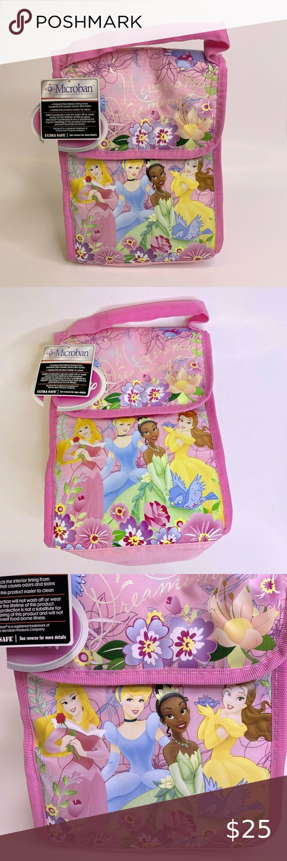 Disney Princess Insulated Lunch Pack Pink New New Disney Princesses Minnie Mouse Mug Disney Princess