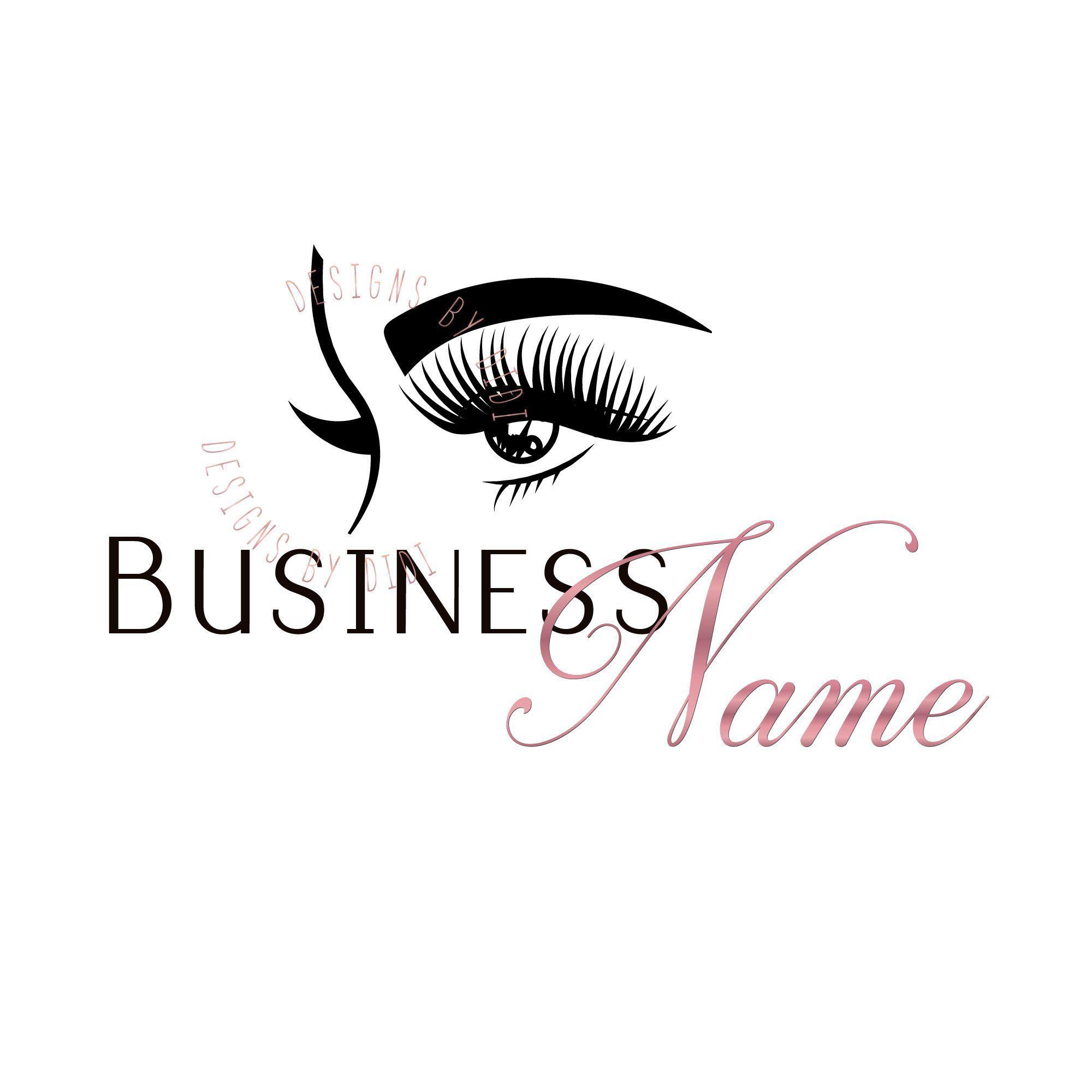 Lash gold logo design, lash watermark, pink black eyelash